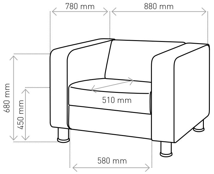 Fotel Cubby 4N