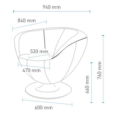 Fotel Only Plus podstawa talerz