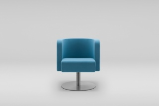NEON S armchair, flat swivel base