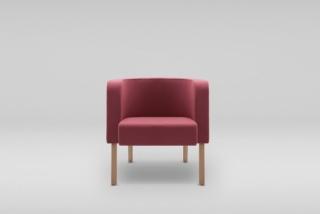 NEON M armchair, wooden legs