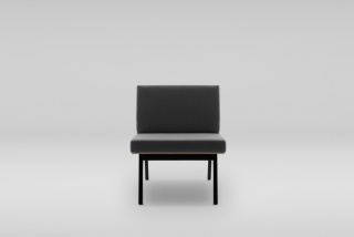 FIN armchair, wooden base
