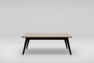 FIN D table, wooden base
