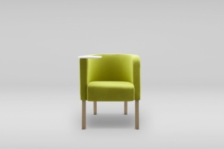 Fotel NEON 2 S nóżki drewniane - ze stolikiem