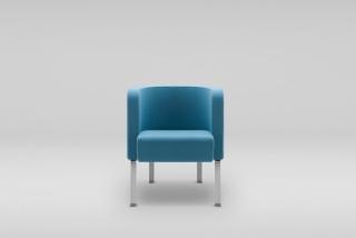 NEON S armchair, metal legs
