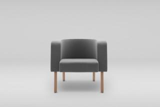 NEON L armchair, wooden legs